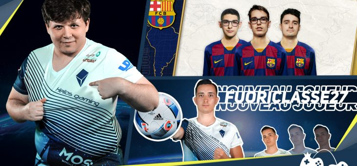 Last news : 20 juillet – FC Barcelona and new esport player at Helios Gaming team